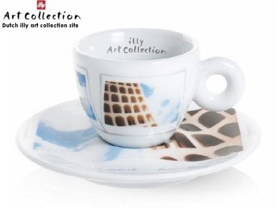 illy Art collection 2018 Maurizio Galimberti 2 tazze MUG cups caffè Coffee